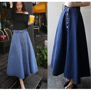 Long skirt dark blue xl