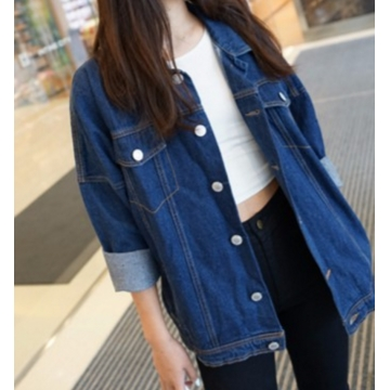 Fashion Blue Denim Jacket blue s