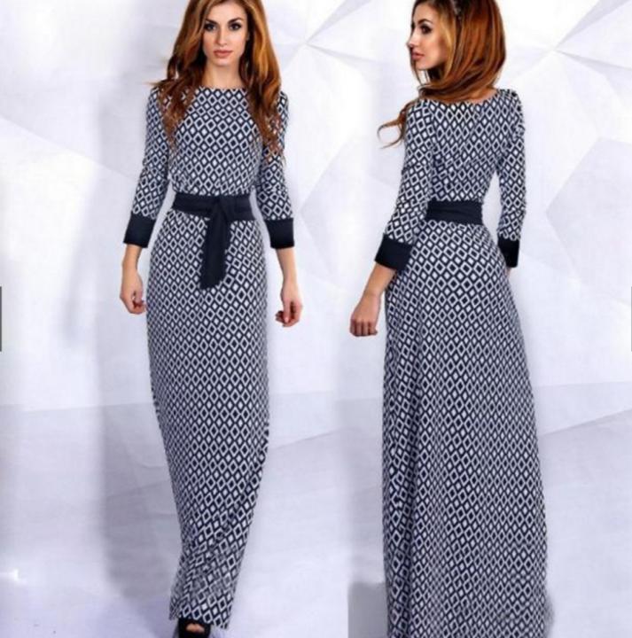 Women Diamond Plaid Draggle-tail Dresses Muslin Dress Skirts black m