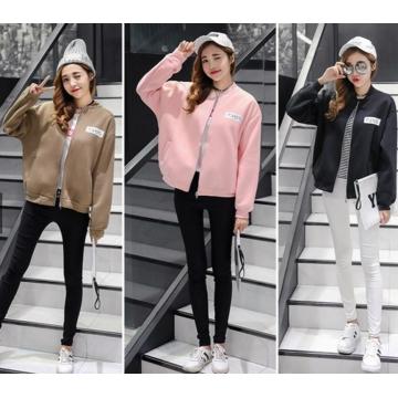 Women's causal jacket fashion sportwear black xl