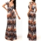 Sexy New Fashion short Sleeve V-Neck Printed Chiffon Dresses Vestido De Festa Women Maxi Dress leopard l