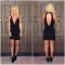 Nouveau Sexy Dresses Femmes backless bouton Mini robe Profonde V sans manches solides robe robes black m