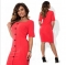Hot Sell Bundle Waist Party A-line Dress Vintage O-neck Sleeveless Dress Lace Vintage red xxl