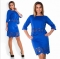 TheWomen A Line Dress A One-step Skirt And Two Pieces Outfit For Ladies Of 5 Colors blue 5xl