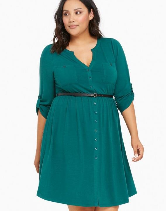 Women's Short Sleeved Dress Perspective Evening Bodycon V-neck A Line Shape Dress green xl
