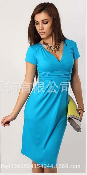 Fashion Pregnancy Dresses For Pregnant Women Maternity Clothes Autumn Winter Dresses light blue 4xl