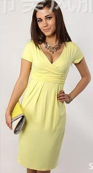 Fashion Pregnancy Dresses For Pregnant Women Maternity Clothes Autumn Winter Dresses yellow 4xl