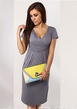 Fashion Pregnancy Dresses For Pregnant Women Maternity Clothes Autumn Winter Dresses gray xxxl
