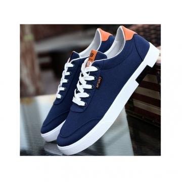 Men Casual Shoes Men's Flat Breathable Men's Fashion Classic Shoes For Men Canvas Shoes blue 41