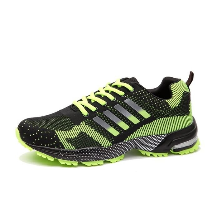 Super Large Size Sport Shoes Men's Casual Hiking Shoes Lace-Up Outdoors Sneakers green 45