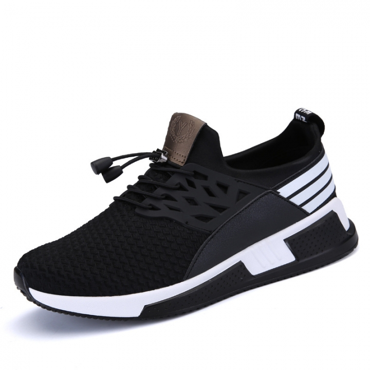 Good Quality Men Running Sneakers Athletic Shoes Breathable Run Sport Shoes Men Non Slip Gym black 44