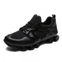 Running shoes Lace Up Rubber Sole Blade Shoes Men Unisex Lovers comfortable Shoes Men Brand Shoes black 39