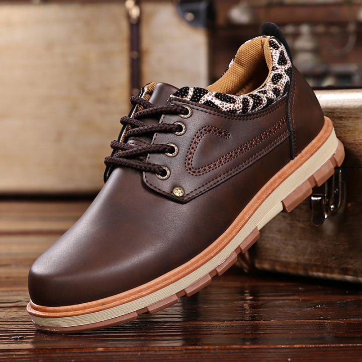 Men Work Casual Shoes Made Of Good PU Fashion Zapatos Hombre Business Leisure Men Leather Shoes brown 43