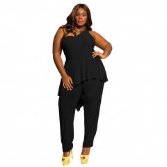 Women's Sides Strapless Shoulder Comforte Jumpsuits Summer Jackets Jumpsuits black m
