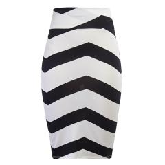 Women Vintage Bodycon Pencil Skirt 2017 New Fashion High Waist Slim Tube Sexy Midi Saia Feminina white s
