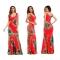 Women Dresses Ethnic Hippie Bohemian Tribe African Print Sleeveless Sheath Long Maxi Tank Dress red xxl