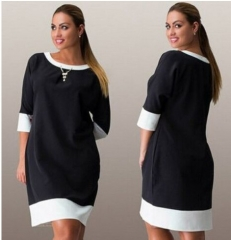 Plus Size Business Office Dresses Wear To Work Elegant Pice Hip Bodycon Formal Dresses l