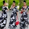 Hot Sale Exotic designer bandage dress v-neck maxi long dress sexy print dresses picture color s