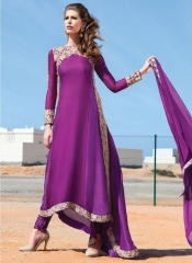 Dresses For Ladies Full-sleeve O-neck Women Elegant Maxi Dresses purple s
