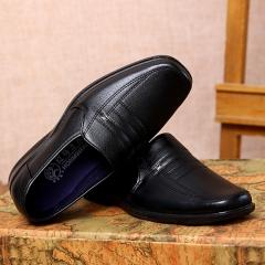 Super Large Size Business Winter Men's Super Fiber Gentle Wedding Leather Shoes Luxury Brand Formal black 42