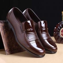 New Fashion Italian Designer Formal Mens Dress Shoes Genuine Leather Black Luxury Wedding Shoes brown 41