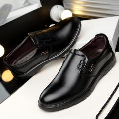 Super Big Large Size Business Men's Super Gentle Wedding Leather Shoes Luxury Brand Formal black 38
