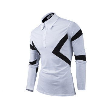 New Classic Mens Polo Shirts Long Sleeve Spring Men's Shirt Brands Camisa Polo Masculina Plus Size white xl
