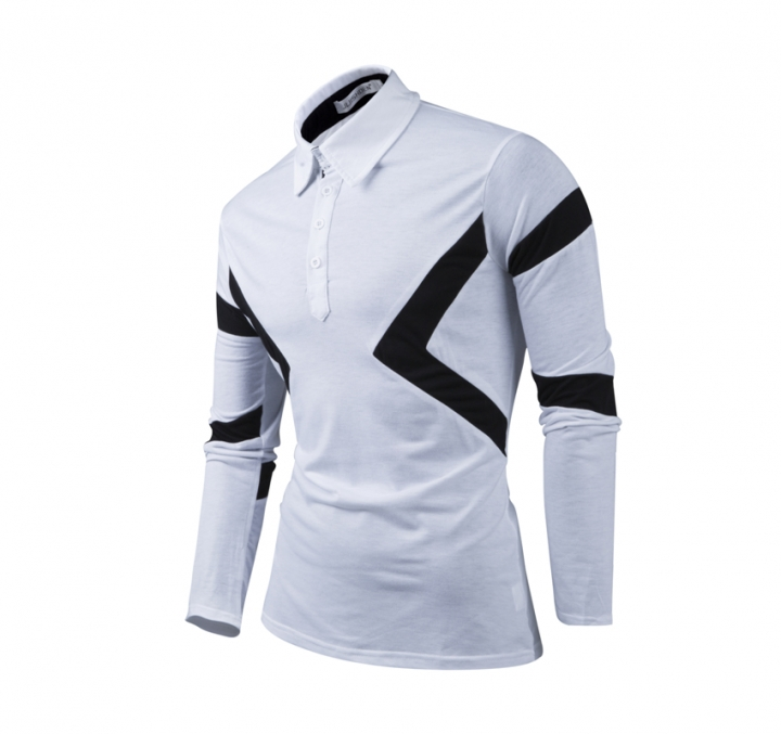 New Classic Mens Polo Shirts Long Sleeve Spring Men's Shirt Brands Camisa Polo Masculina Plus Size white m