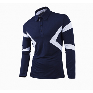 New Classic Mens Polo Shirts Long Sleeve Spring Men's Shirt Brands Camisa Polo Masculina Plus Size blue 3xl