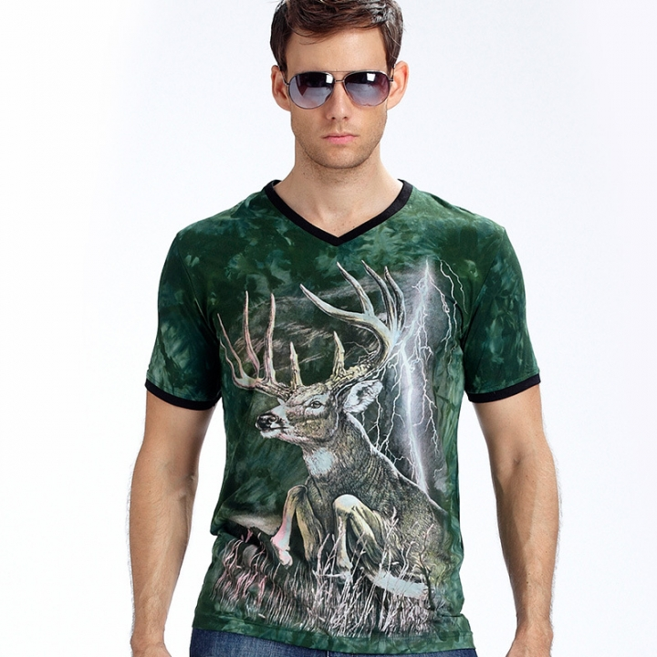 New Stylish Dolphins Print T-shirt Men/Women Brand Tshirt Fashion 3d T Shirt Tops Tees Plus Size green l