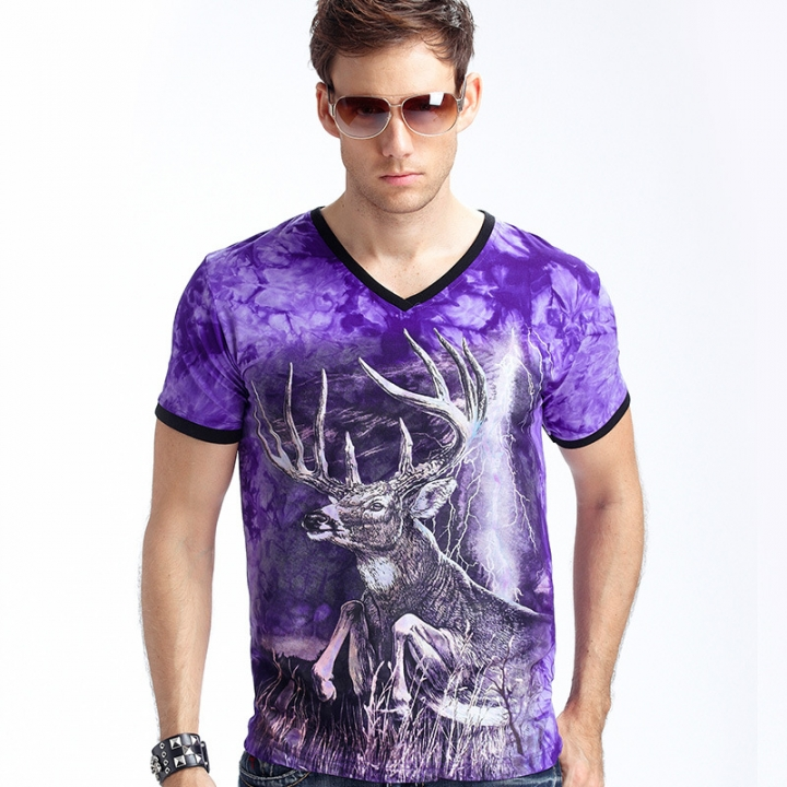 New Stylish Dolphins Print T-shirt Men/Women Brand Tshirt Fashion 3d T Shirt Tops Tees Plus Size purple xxl