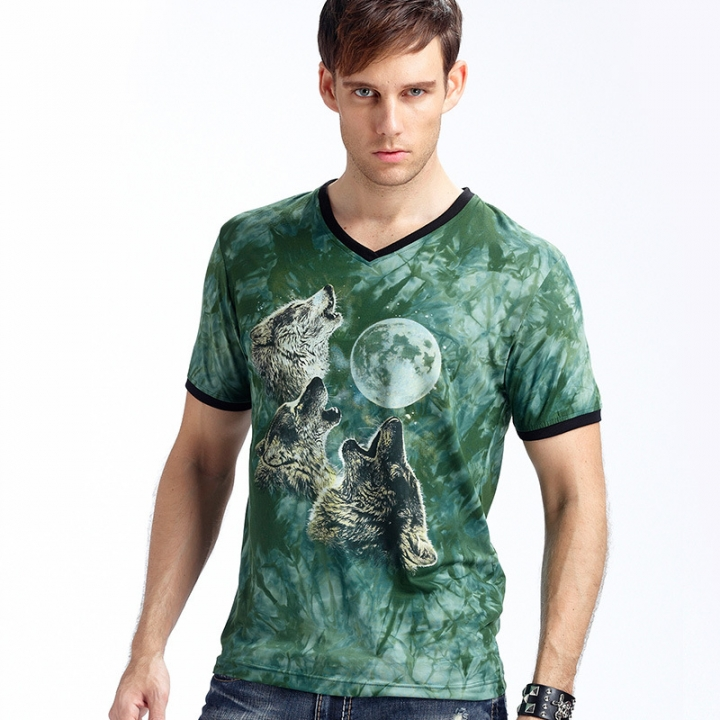 New Stylish Dolphins Print T-shirt Men/Women Brand Tshirt Fashion 3d T Shirt Summer Tops Tees green l