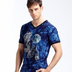 New Stylish Dolphins Print T-shirt Men/Women Brand Tshirt Fashion 3d T Shirt Summer Tops Tees blue l