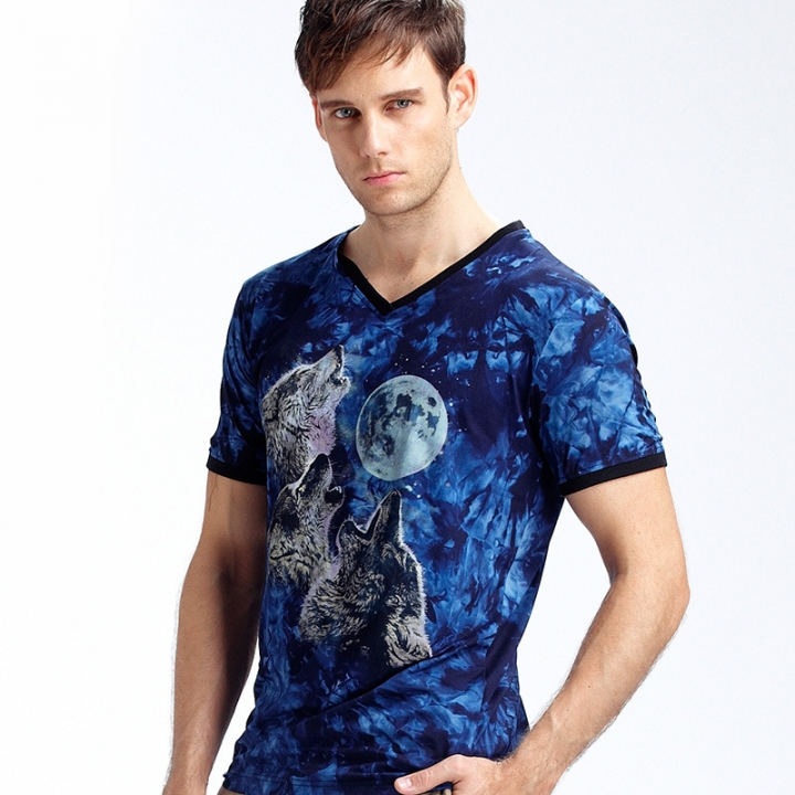 New Stylish Dolphins Print T-shirt Men/Women Brand Tshirt Fashion 3d T Shirt Summer Tops Tees blue m