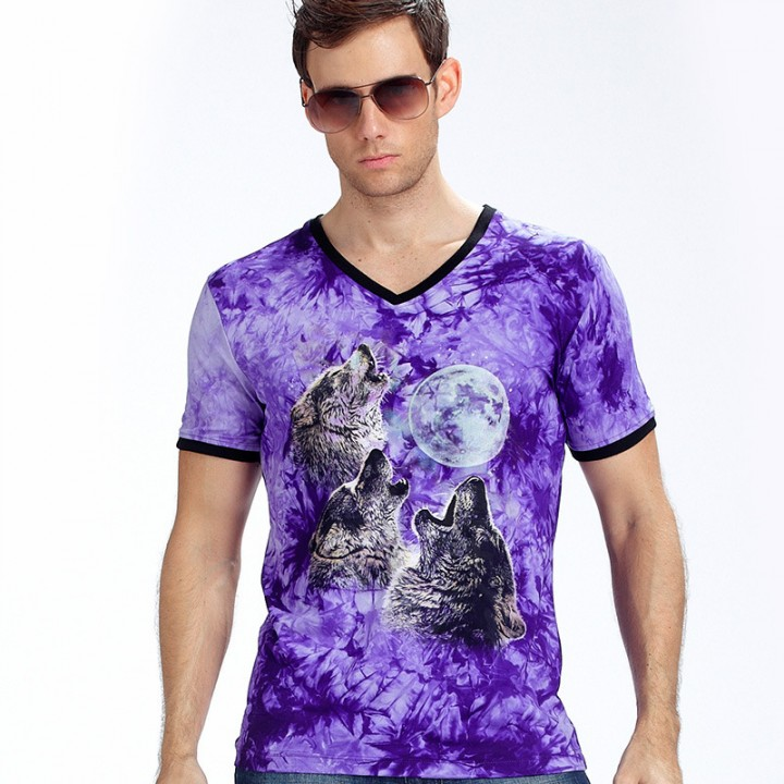 New Stylish Dolphins Print T-shirt Men/Women Brand Tshirt Fashion 3d T Shirt Summer Tops Tees purple xl