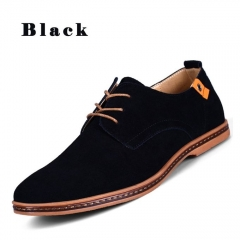 Fashion Men's Casual Leather Shoes black 45