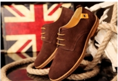 Fashion Men's Casual Leather Shoes brown 38
