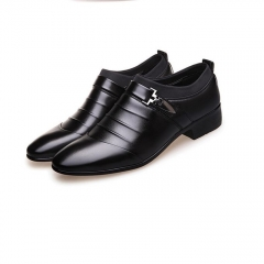 Big Large Size Fashion High Quality Winter Men's Super Wedding Leather Shoes black 38