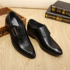 Super Big Large Size Business High Quality Winter Men's Super Gentle Wedding Leather Shoes black 38