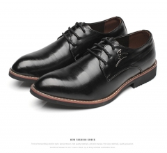 Business Cool Good Summer Men's Gentle Wedding Office Leather Shoes black 38