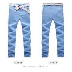 Casual/Leisure British Style Fashion Silm Fit Pants Business Trousers Dress Pant For Man blue 28