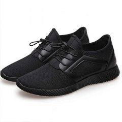 Men's Sport Shoes  Breathable Running Shoes Low Lace-Up Sneaker Casual Outdoor Shoes black 40