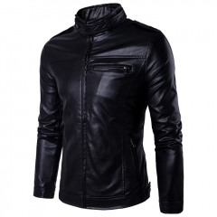 Trench Coats Leather Men's Genuine Leather Plus Size Jackets Real Sheepskin Leather Jacket For Men black m