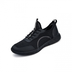 Super Large Size Sport Shoes Young Men's Respirable Casual Fashion Shoes Lace-Up Outdoors Sneakers black 39