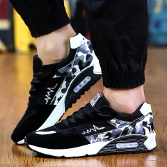 Men's Shoes Spring Men's Casual Shoes Breathable Mesh Running Air Cushion Shoes black 39