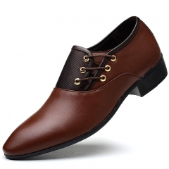 Men's Leather Shoes New Products Business Suit Leather Shoes Men's Size Casual Shoes brown 48