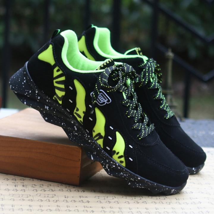 Autumn new men's casual shoes comfortable Style men's shoes Fashion Sneakers green 39