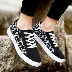 Men's Shoes Korean Fashion Student Shoes Casual Shoes Low Sports Fashion Sneakers black 39
