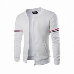 New Arrivel Mens Hoody Jacket Coat Two Color Blocked Lightweight Fleece Jacke white m