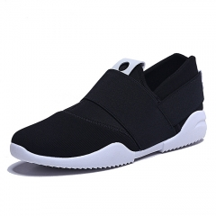 Men Slip-Ons Higher Shoes Men's Casual Shoes Breathable Canvas Sneakers Shoes For Men black 40